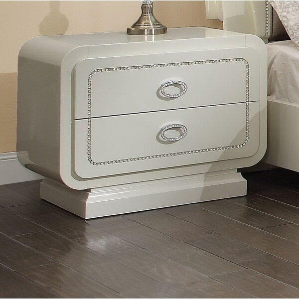 Gilleland 2 Drawer Nightstand by Everly Quinn