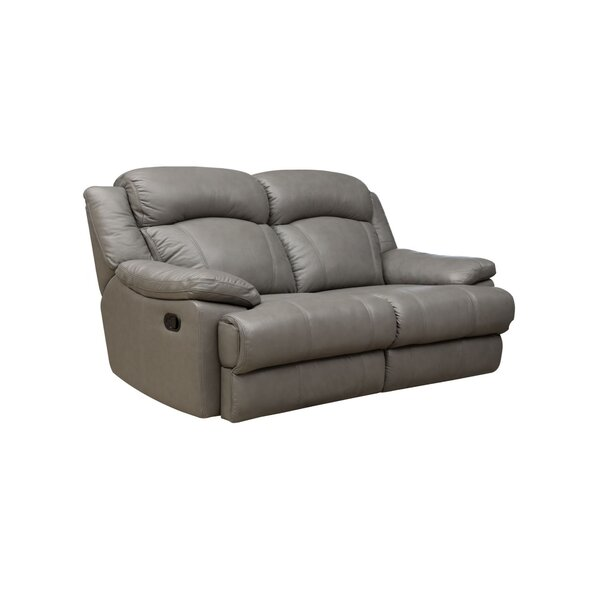 #2 Nigel Leather Reclining Loveseat By Darby Home Co Wonderful