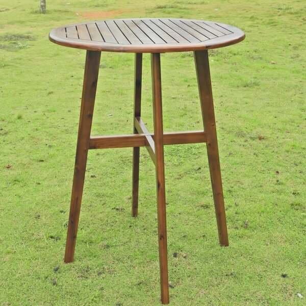 Roddy Wooden Bar Table by Millwood Pines Millwood Pines
