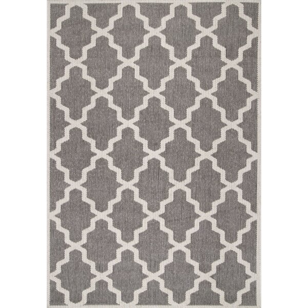 Bolton Gray Trellis Indoor/Outdoor Area Rug by Charlton Home