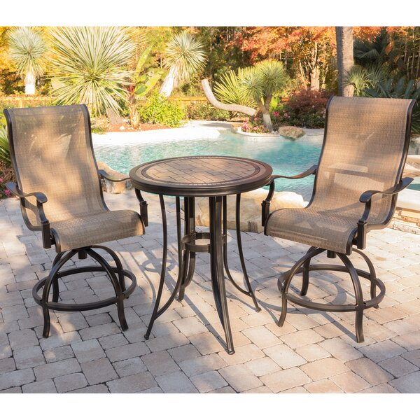 Bucci 3 Pieces High-Dining Set by Fleur De Lis Living