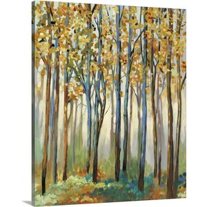 'Golden Leaves' by Allison Pearce Painting Print on Canvas by Great Big Canvas