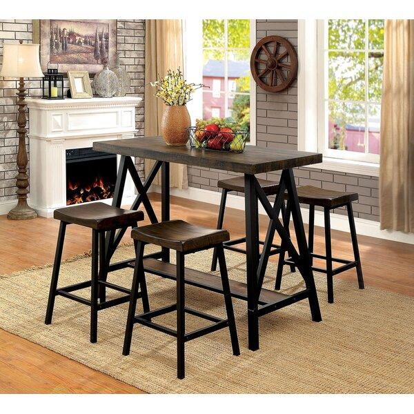 Brick 5 Piece Counter Height Dining Set by Gracie Oaks