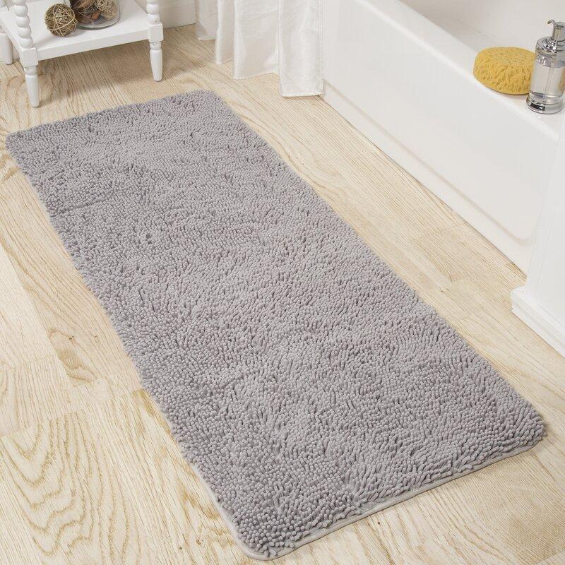 Bathroom Rugs Memory Foam Shag Runners Plush Chenille Luxury Bath Mat 10 Colors