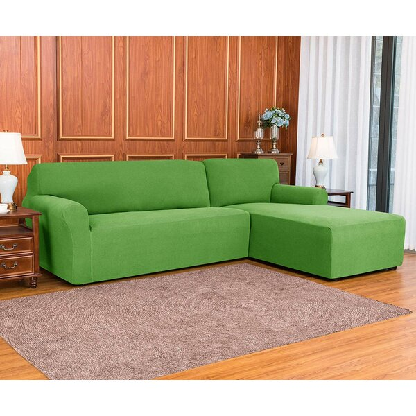 2 Pieces L-shaped Box Cushion Sofa Slipcover By Red Barrel Studio