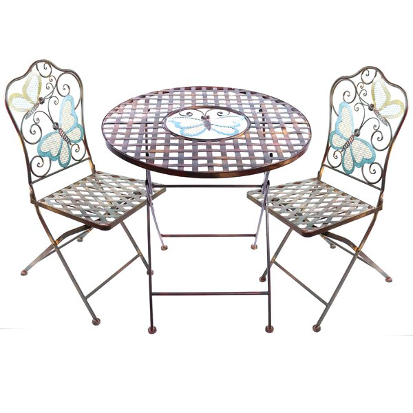 Sonia 3 Piece Butterfly Bistro Set by August Grove