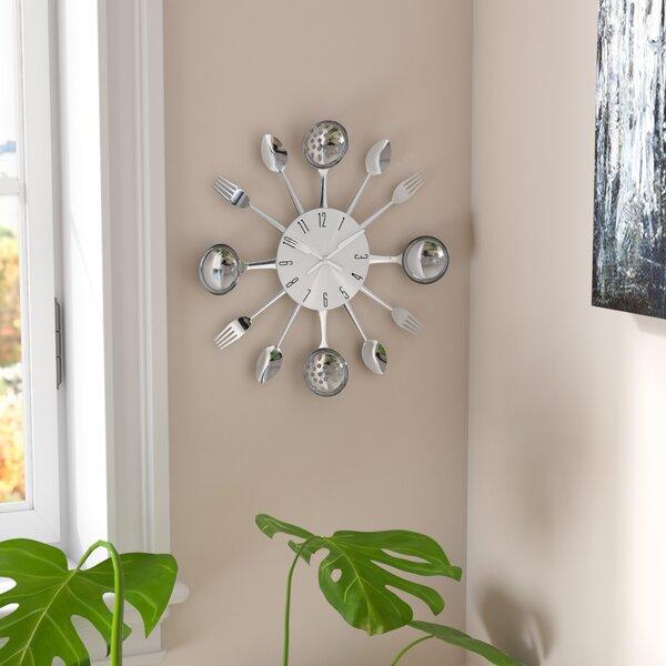 Bradly 15 Round Metal Kitchen Wall Clock by Zipcode Design