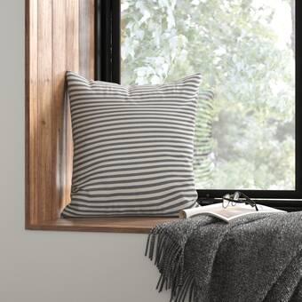 Cawley Striped Cotton Throw Pillow Reviews Allmodern