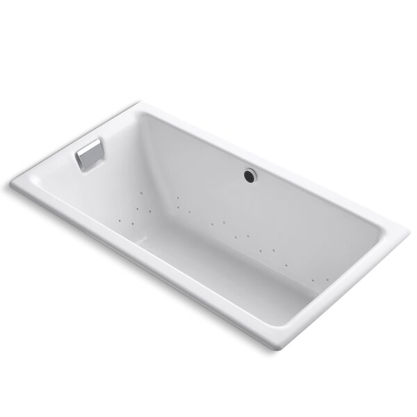 Tea-For-Two Bubblemassage 66 x 36 Soaking Bathtub by Kohler