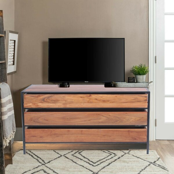 Ponte Acacia Wood 3 Drawer Standard Dresser by Williston Forge