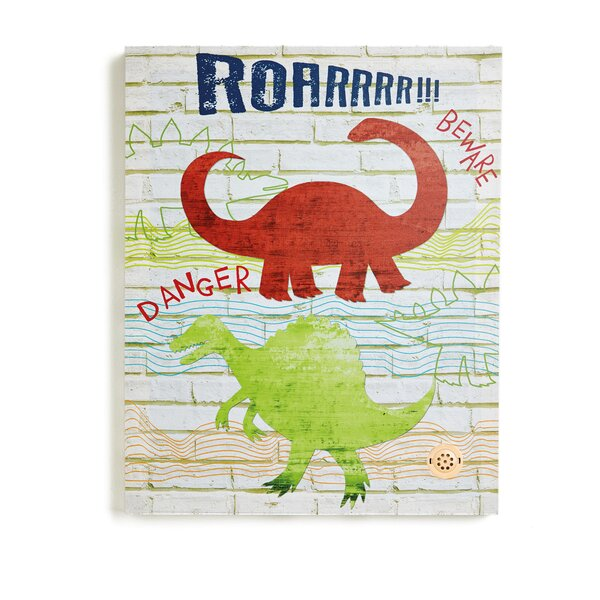 Dino Doodles Wall Canvas Art by Arthouse
