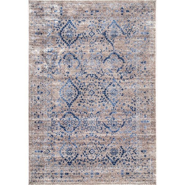 Chuck Brown/Blue Area Rug by Bungalow Rose