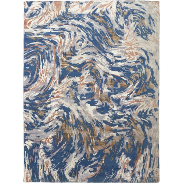 One-of-a-Kind Croydon Hand-Knotted Wool Blue Indoor Area Rug by Isabelline