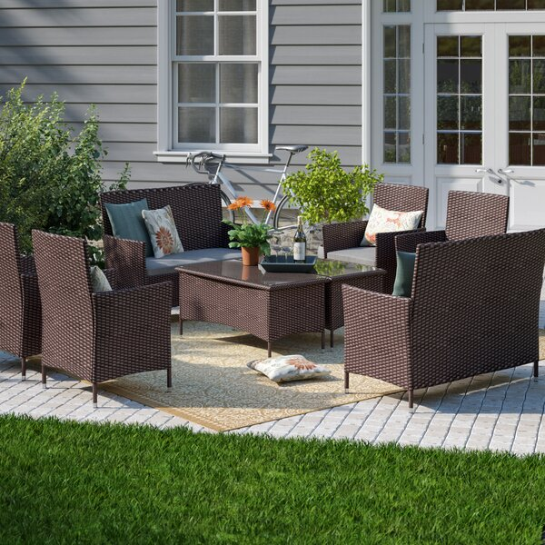 Kacey 8 Piece Sofa Seating Group with Cushions by Andover Mills