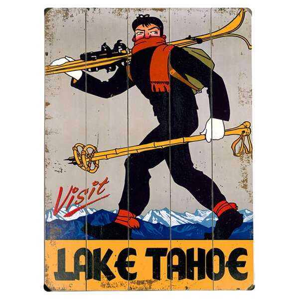 Lake Tahoe  Vintage Advertisement Multi-Piece Image on Wood by Artehouse LLC