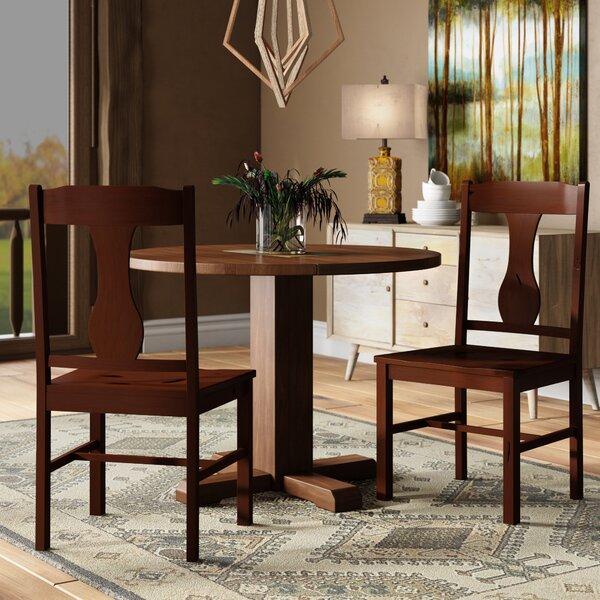 Freya Solid Wood Dining Chair (Set of 2) by Loon Peak