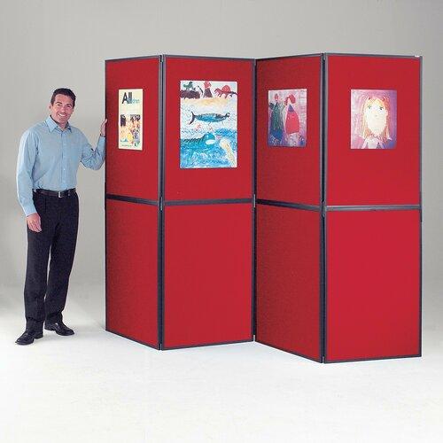 Freistehende Pinnwand  ClearAmbient Gestellfarbe: Schwarz| Farbe: Burgunderrot | Büro > Tafeln und Boards > Hängetafeln | ClearAmbient