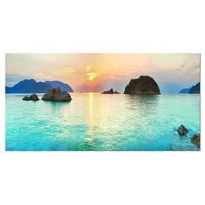 Sunrise Panorama Photographic Print on Wrapped Canvas by Design Art