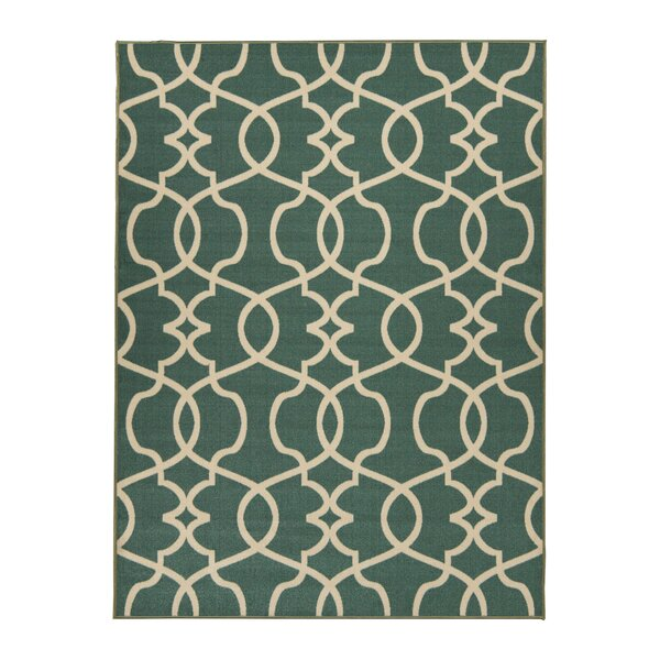 Rose Blue Area Rug by Berrnour Home