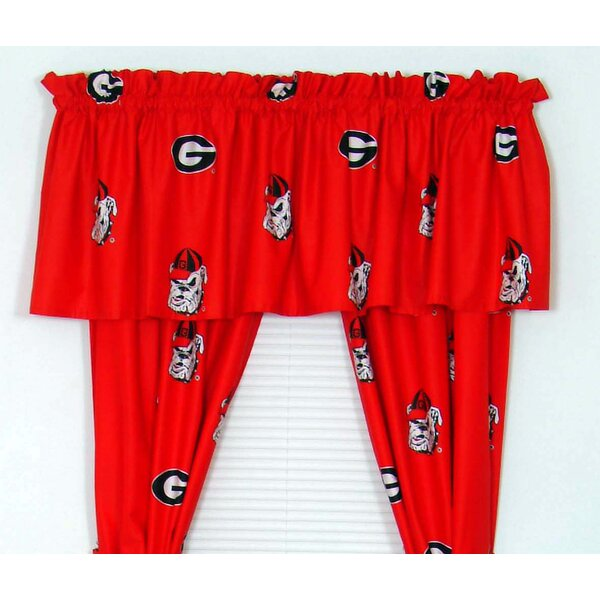 NCAA Georgia Printed Sports Rod Pocket Curtain Panels (Set of 2) by College Covers