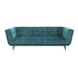 Corrine Velvet 88.75 Tuxedo Arm Sofa by George Oliver