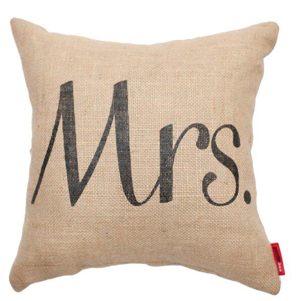 Expressive Mrs. Burlap Jute Throw Pillow by Posh365