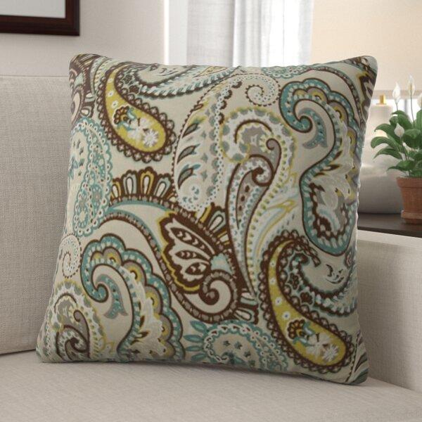 Bequia Paisley Indoor/Outdoor Throw Pillow