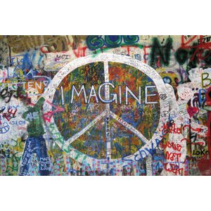 'Peace Wall' Graphic Art Print Poster by Latitude Run