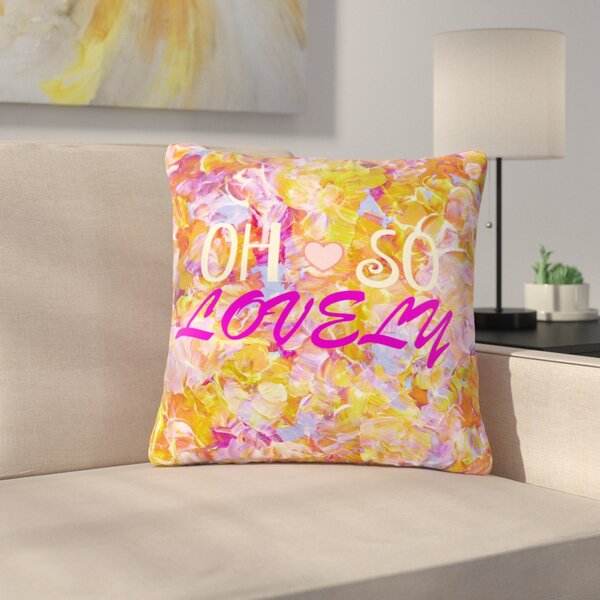 Ebi Emporium Oh So Lovely Outdoor Throw Pillow by East Urban Home