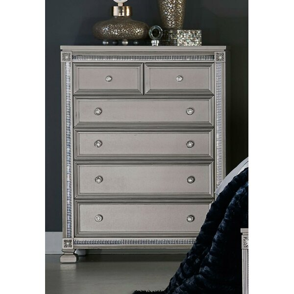 Lugo Wooden 6 Drawer Chest by Rosdorf Park