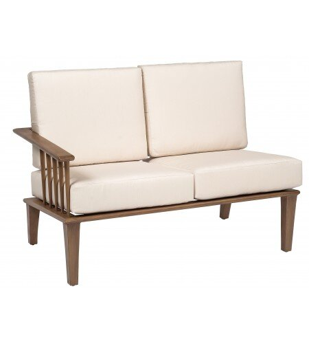 Van Dyke Left Arm Facing Loveseat Sectional Piece with Cushions by Woodard