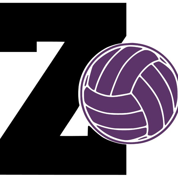 Letter Z and Volleyball Wall Decal by Enchantingly Elegant