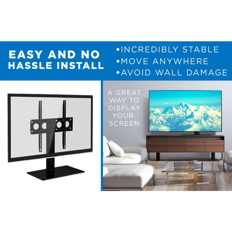 """Living Room Universal Table Top TV Stand Base for 37/"""" 65/"""" Flat-Screen TVs US"""