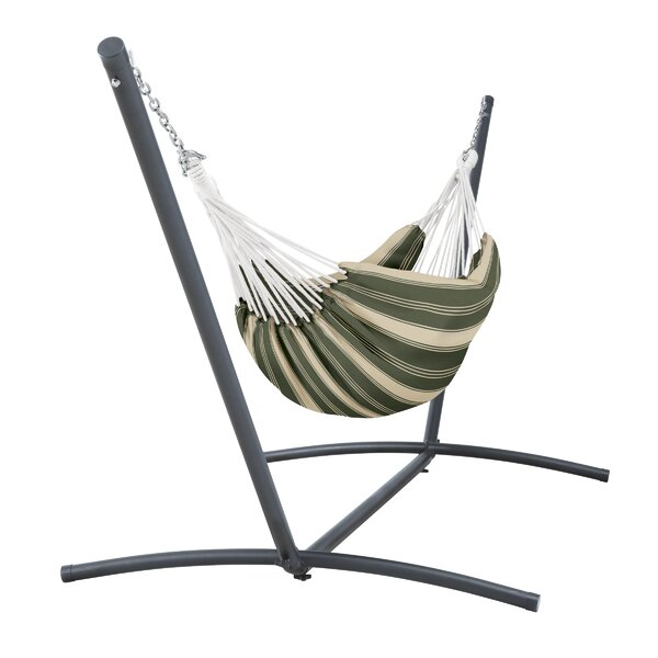 Searcy Fadesafe Brazilian Double Tree Hammock with Stand by Freeport Park