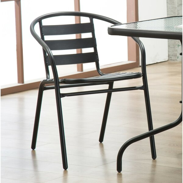 Bemadette Stack Patio Dining Chair (Set of 4) by H