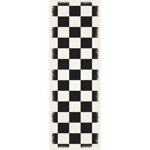 Best Review Wendling Black/White Indoor/Outdoor Area Rug ByWinston Porter