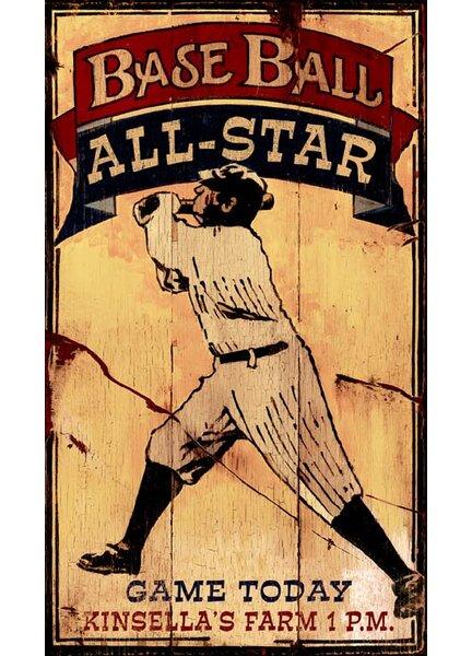 Baseball Allstars Vintage Advertisement Plaque by Winston Porter