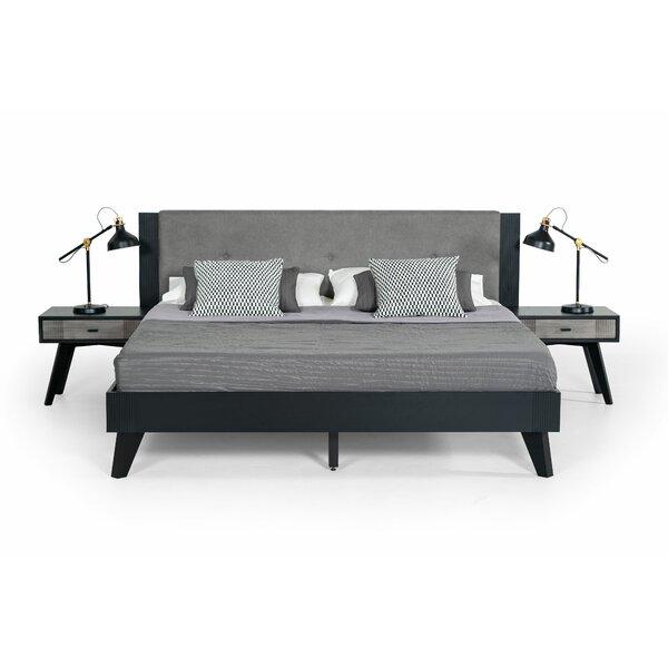 Donham Upholstered Platform Bed by Modern Rustic Interiors