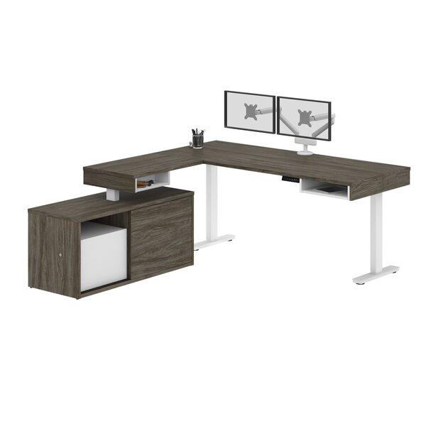 Hann Height Adjustable L-Shape Gaming Desk