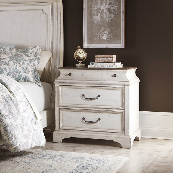 Corona 2 Drawer Nightstand by One Allium Way