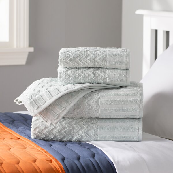 Bernhard 6 Piece Egyptian-Quality Cotton Towel Set