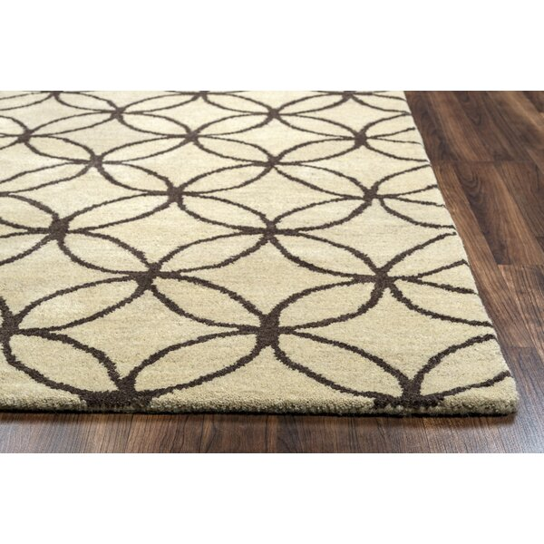 Kenzie Natural & Chocolate Rug by Birch Lane™