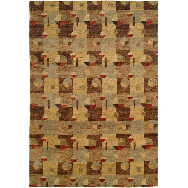 Lushun Hand-Knotted Brown/Beige Area Rug by Wildon Home ®