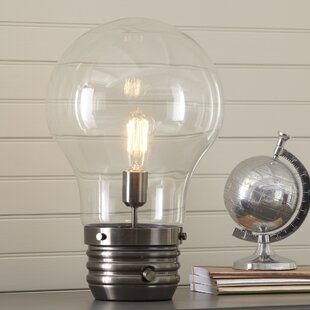 Industrial table lamps youll love wayfair edison 18 table lamp with globe shade mozeypictures Gallery