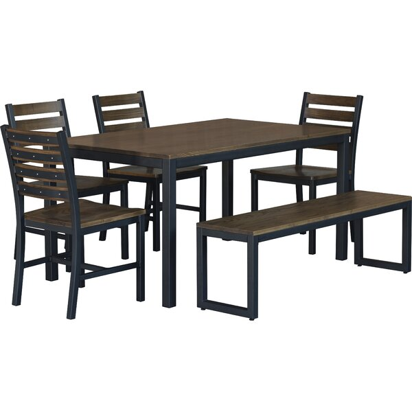 Loft  6 Piece Dining Set by Elan Furniture