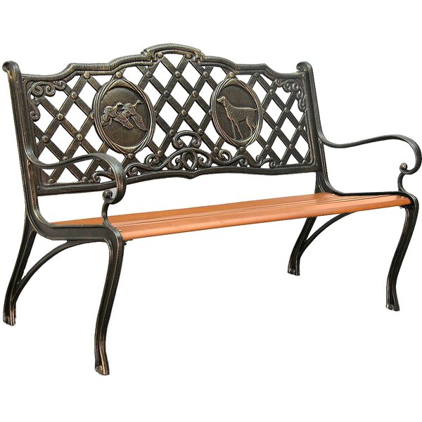 Hunting Cast Iron Park Bench by Innova Hearth and Home