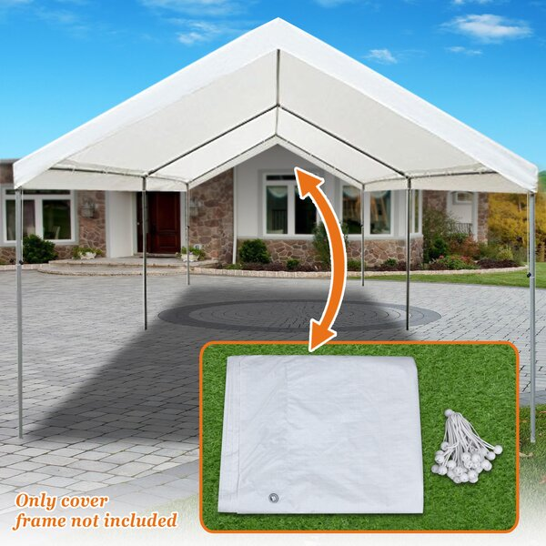 Carport 20 Ft. W x 10 Ft. D Patio Gazebo Canopy by Strong Camel