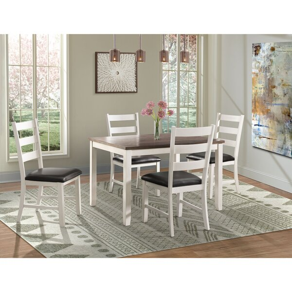 Mavis 5 Piece Solid Wood Dining Set by Alcott Hill Alcott Hill