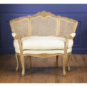 Fonso Cane Linen Chair and a Half One Allium Way