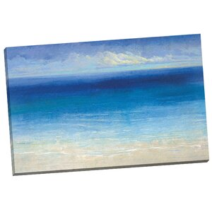 'Ocean Calm' Painting Print on Wrapped Canvas by Ivy Bronx